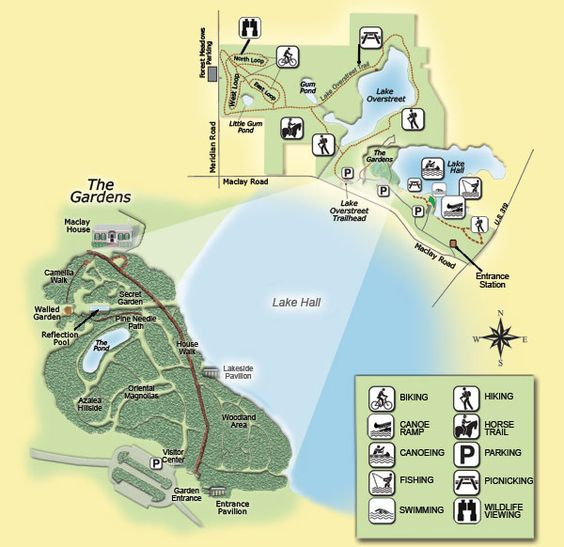 Map Of Alfred B Maclay Gardens State Park Local Places