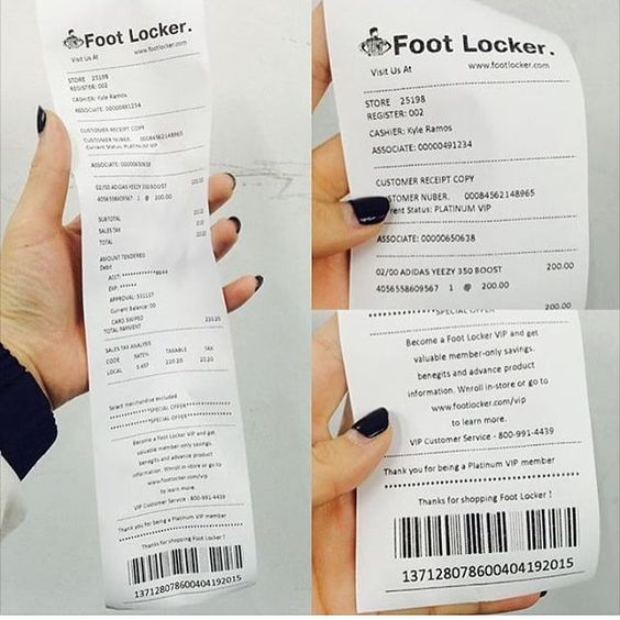 More Fake Receipts For Yeezys....God Almighty It's Getting ...
