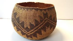 Antique Northern California Native American Basket | eBay