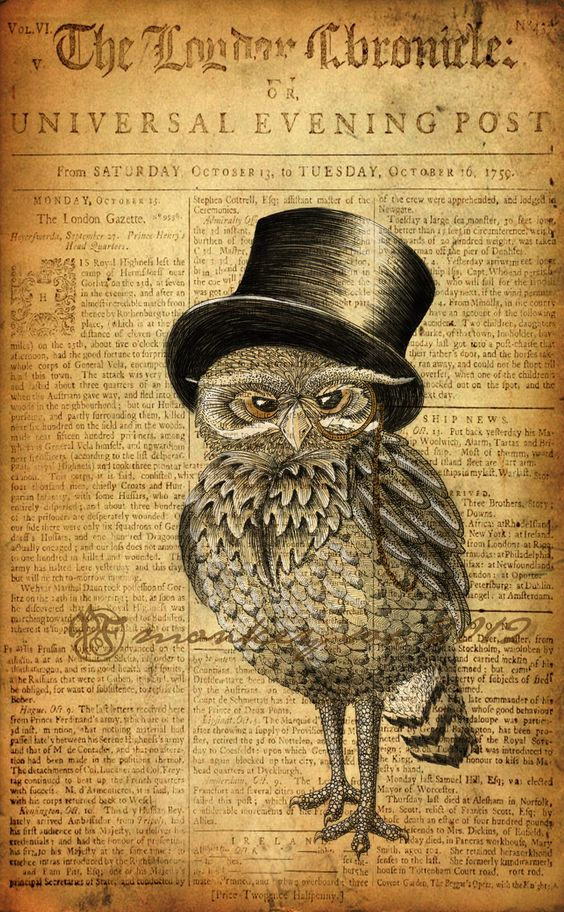 Ernest the Gentleman Owl ~ by Monkey-Sox: