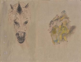Unicorn Head and Mental Image By Raymond Coxon