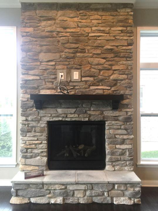 Prestige Ledge Stone Floor To Ceiling Fireplace Stone Fireplace