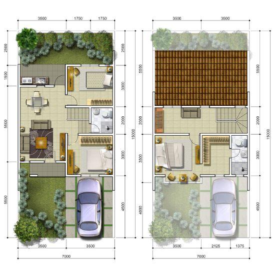 Desain Rumah Minimalis Ukuran 9x12  pin di denah rumah minimalis terbaru