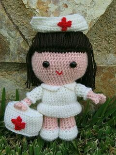 Crochet-Nurse Jazzi- Amigurumi Pattern