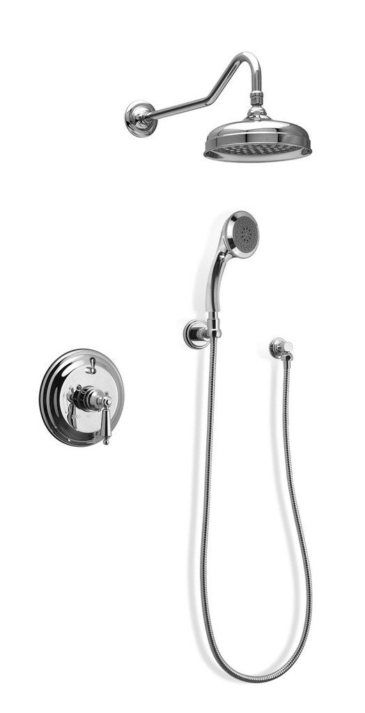 F92h Sp In Wall Pressure Balanced Shower System With Pan