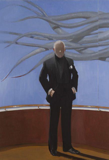 JULIO LARRAZ Calamar, 2014  oil on canvas 82 7/10 × 57 1/2 in 210 × 146 cm