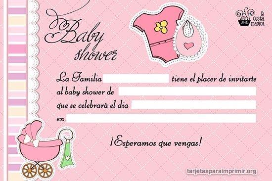 Invitaciones De Ba Shower De Nia Para Editar Invitacion A Ba