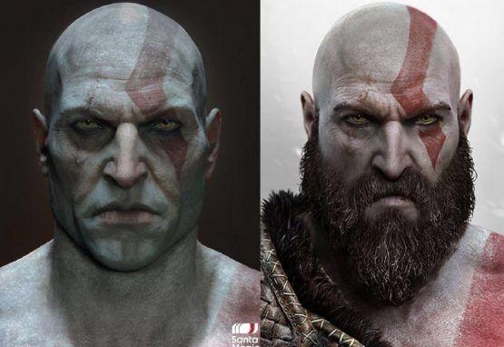 Kratos Beard Shaved Comparison God Of War Kratos God Of