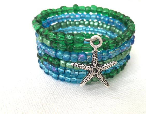 Starfish Summer Wrap Bracelet by DtailsULike