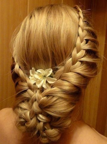 See more Birds nest style hair designs for ladies