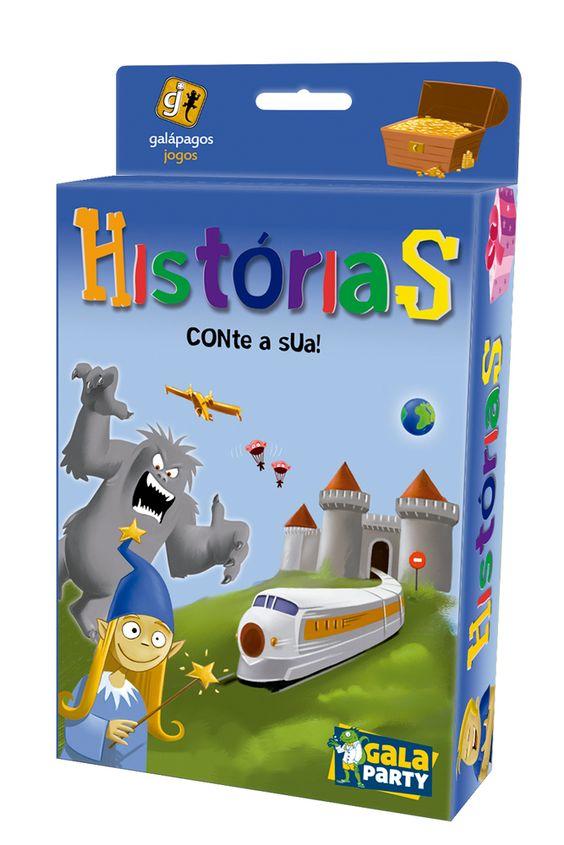 Caixa do Jogo de Tabuleiro Histórias