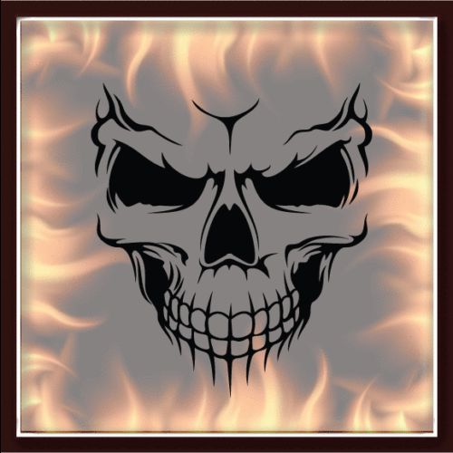 skull 325 airbrush stencil template motorcycle chopper paint new design airbrush help. Black Bedroom Furniture Sets. Home Design Ideas