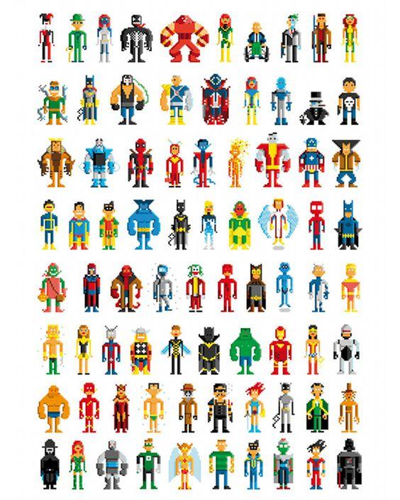 Pixelated Super Heros