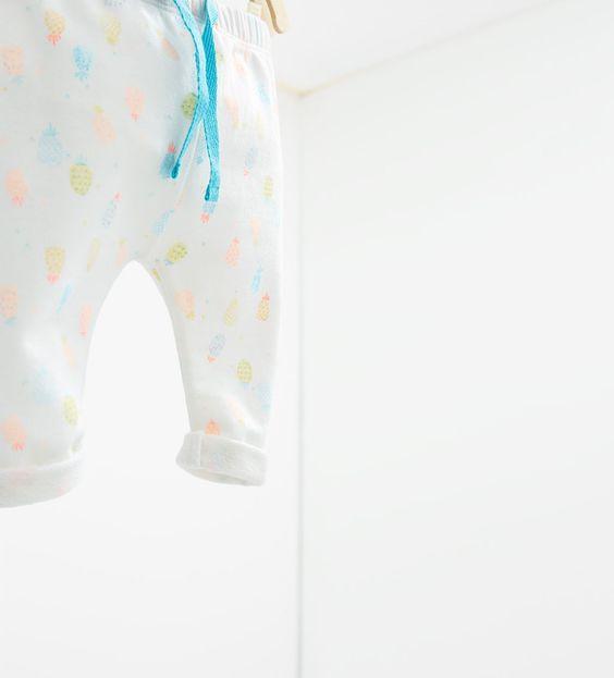 Neon pineapple leggings-TROUSERS-MINI | 0-12 months-KIDS | ZARA United States