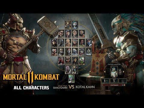 mortal kombat 11 all characters