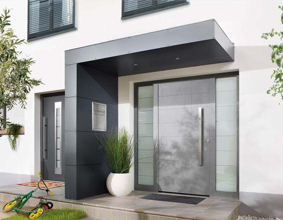 Eingangsbereich Außen Gestalten ganz neu siebau eingangsüberdachungen mit einer verkleidung