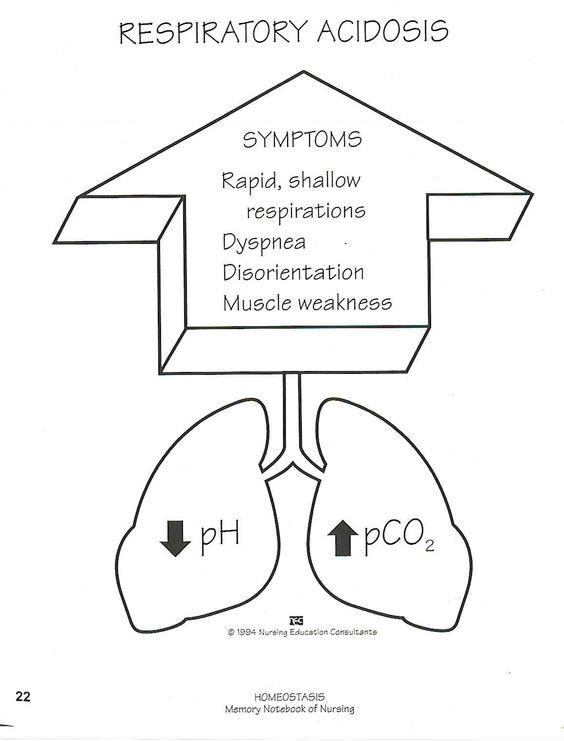 respiratory acidosis | nursing school | pinterest, Skeleton