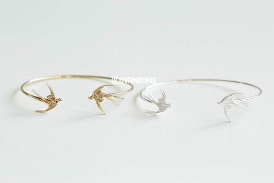 Swallow bangle bracelet,B352R