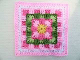 Brighter Daze Square by Melissa Green  ~ free pattern on Ravelry