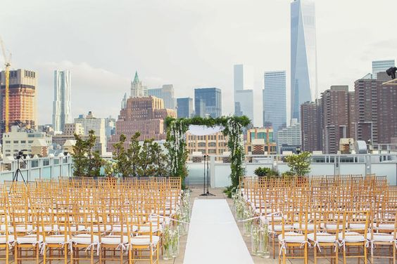 Beautiful Outdoor Wedding Ceremony At Tribeca Rooftop: 9 Unique NYC Lofts You'll Love For Your Wedding