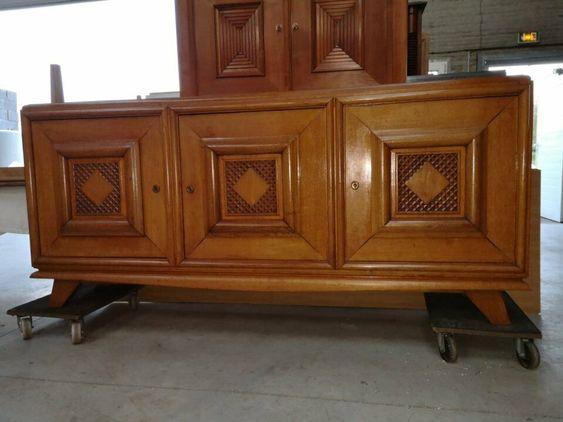 Enfilade Sideboard Cabinet Chene Art Deco 1940 En 2020 Art Deco Buffet Meuble Deco Design
