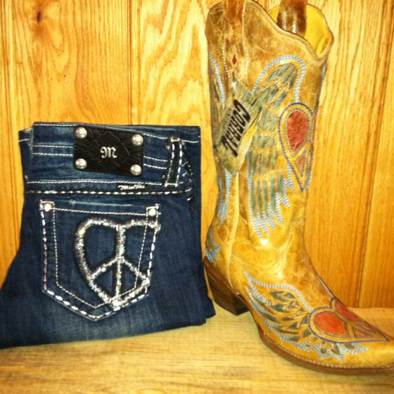 Corral Boots and Miss Me Jeans at RiverTrail in North Carolina.