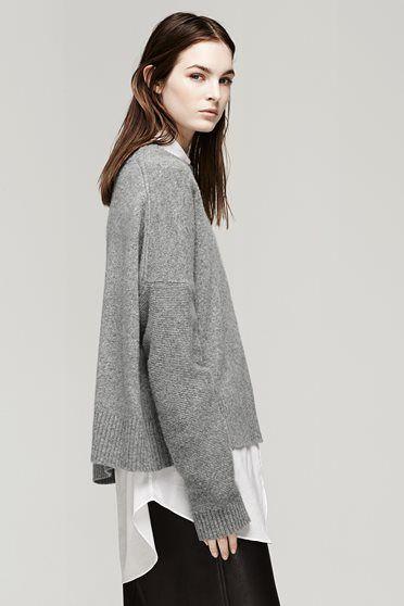 ¾ Waist up Side  - Grey