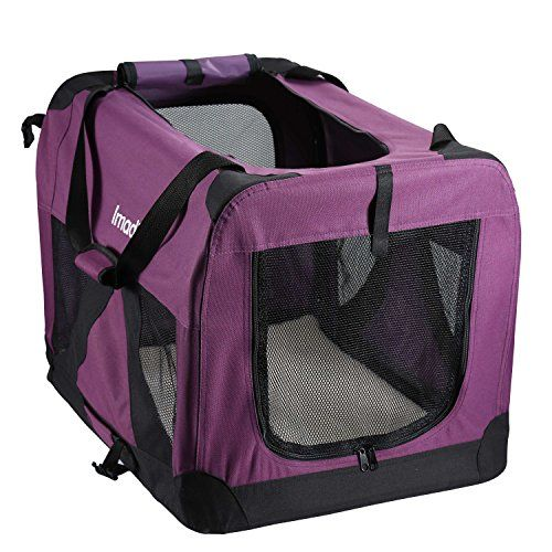 Pettom Dog Crate Soft Sided Kennel For Pet Indoor Home Outdoor Use 3 Door Folding Collapsible Travel Carrier For Medium Large Dogs Dog Crate Soft Dog Crates Medium Dog Crate