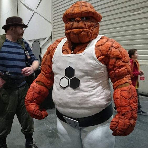 It's Clobberin' Time! The Thing is here. #Thing #BenjaminGrimm #FantasticFour #FutureFoundation #Marvel #TheThing #MarvelComics #LSCC #LSCC15 #LondonSuperComicConvention #ItsClobberinTime #Cosplay #TheThingCosplay #FantasticFourCosplay by marcantony91
