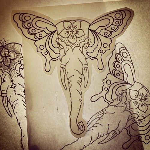 Elephants, Skulls and Sugar skull on Pinterest