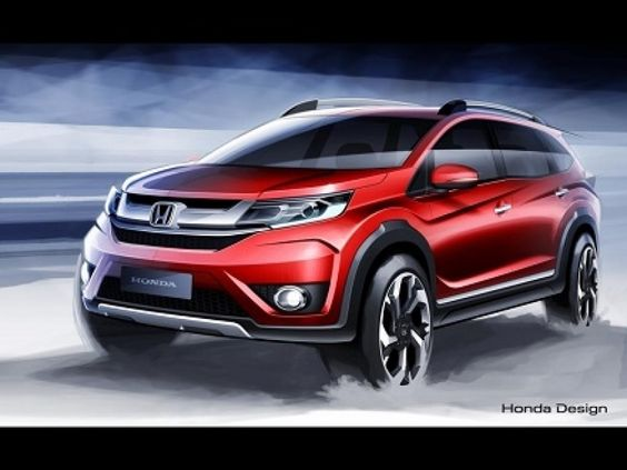 New Cars Release In 2016 New Honda Br V Sketches Released India