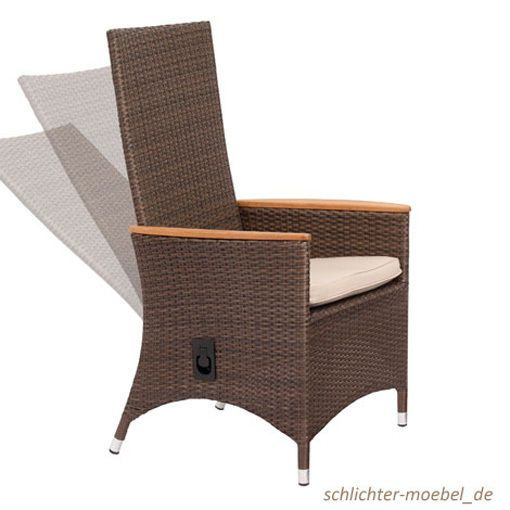 BARI Gartensessel Gartenmöbel Korbsessel Polyrattan Sessel Inkl.  Sitzkisssen | Bari, Garten And Backyard