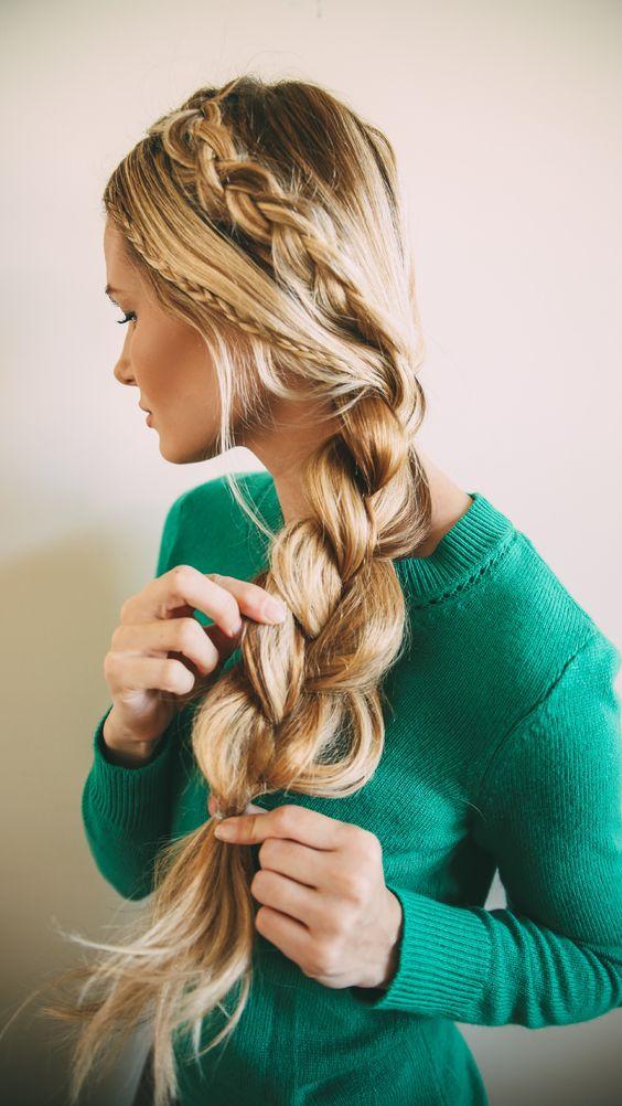 Las trenzas van a seguir presentes este 2015  #cabello #peinados
