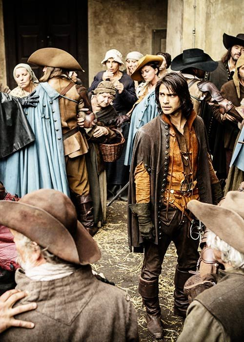 D'Artagnan - Luke Pasqualino in The Musketeers, set in the 1630s (BBC TV series).