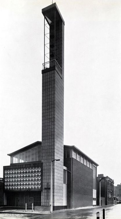 St. Boniface, Whitechapel (1960) by Plaskett, Marshall & Partners.     Image from New Steel Construction.