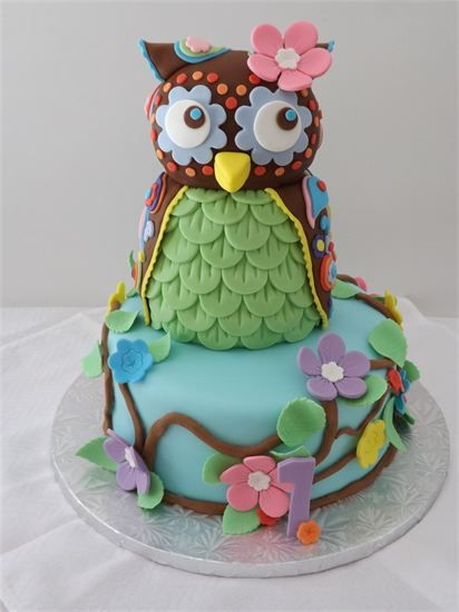 owl birthday cake~~: