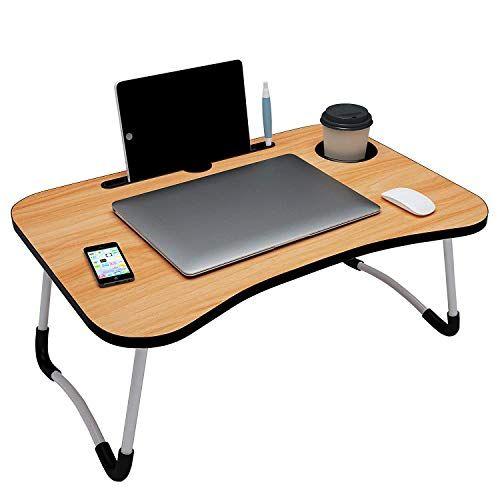 Adjustable Laptop Table, Portable Folding Desk Pc Laptop Bed Table