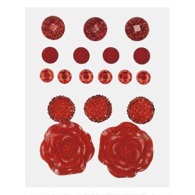 Z1893 -- Base & Bling Red Jewels -- $5.95. 2 – 22mm resin flowers 3 – 12mm acrylic flowers 6 – 6mm sparkles 4 – 7mm enamel gems 3 – 10mm glitter gems SHOP: www.keeleyskreations.ctmh.com