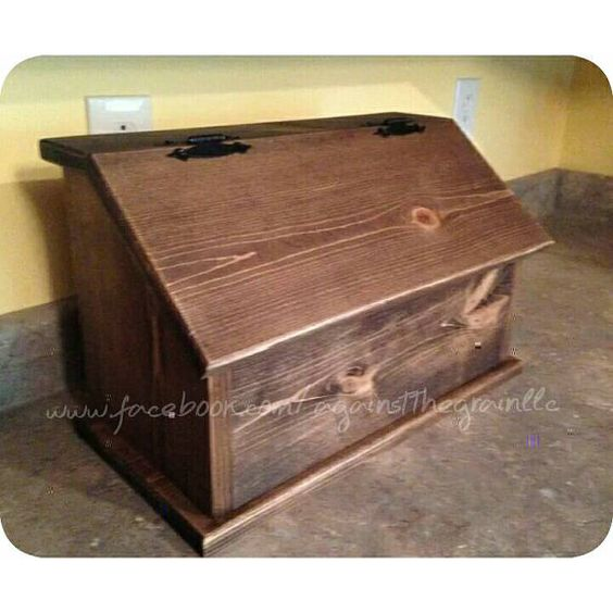 Handmade wooden bread box Primitive kitchen by AgainstTheGrainLLC