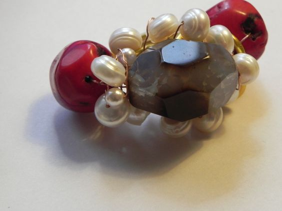 Anillo de macalar hecho a mano con piedras naturales tienda online www.macalar.com