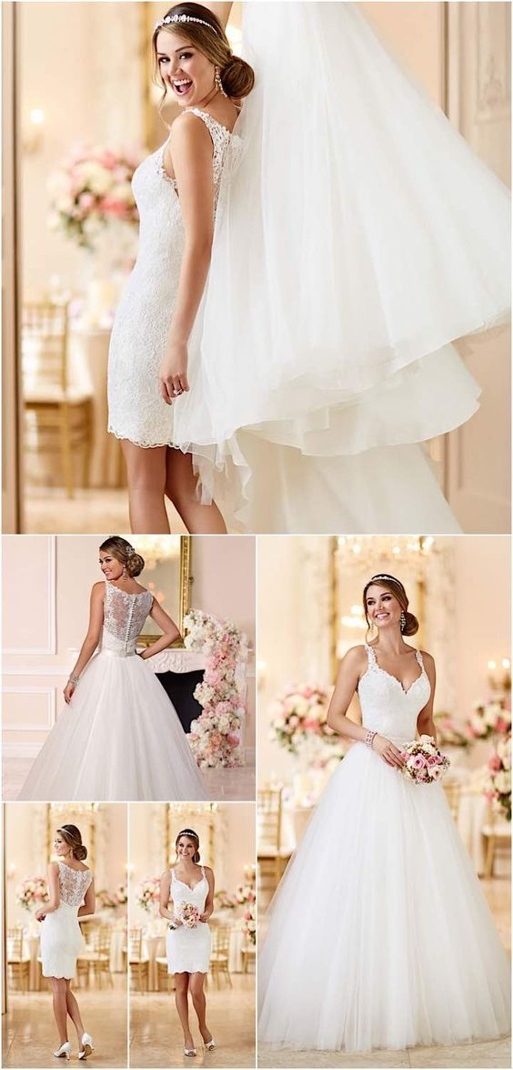 Wedding dresses with romantic details wedding planning for Romantic wedding dress designers