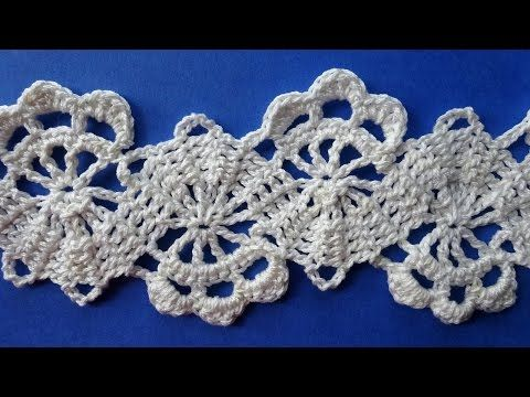 How to Crochet Bruges Lace Tape Брюггское кружево крючком схемы вязания Вязание крючком 352 - YouTube