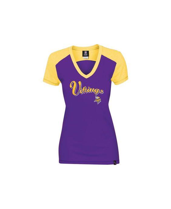 Women's Minnesota Vikings 5th & Ocean by New Era Black Core Tri ...