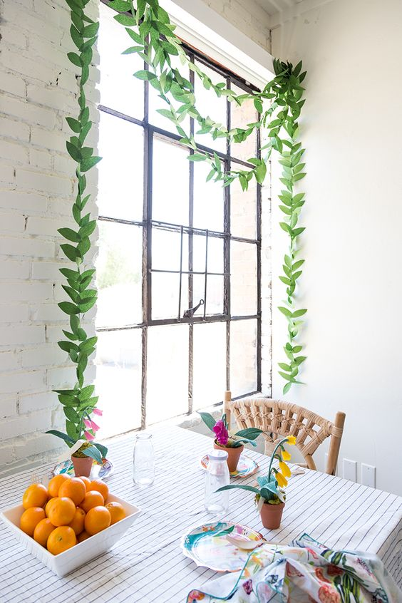 Paper Leaf Garland by The House That Lars Built