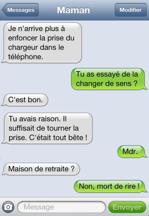 Bienvenue aux mamans dans le monde des textos ! ;-)