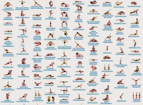 84 Classic Yoga Asanas Pdf Google Search Hatha Yoga Poses All Yoga Poses Yoga Poses Names