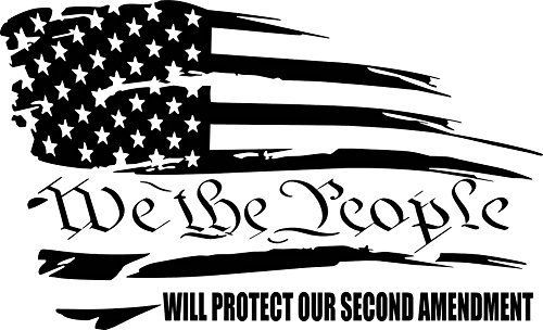 We The People Sticker America patriotic USA Freedom liberty vinyl window decal