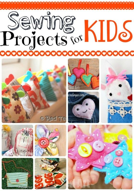 10+ Sewing Project for Kids - lovely kids projects that will help teaching kids to sew!: