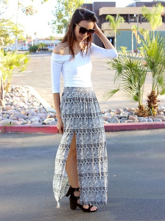 I love this top!! I wish I knew where to buy it. Lines of Rumi Skirt | Find this on Relished.com