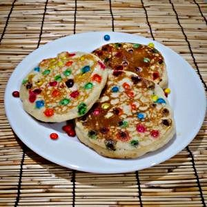 The best m&m pancakes
